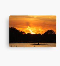 Sunset - Round Lake Illinois Canvas Print
