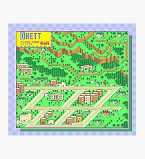 Onett Town Map - Earthbound/Mother 2 Photographic Print
