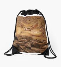 Fennec Fox Love Drawstring Bag