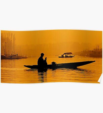 Golden Hour At Dal Lake Poster