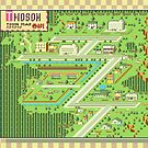 Twoson Town Map - Earthbound/Mother 2 by Studio Momo ╰༼ ಠ益ಠ ༽