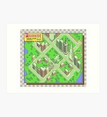 Fourside Town Map - Earthbound/Mother 2 Art Print