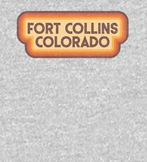 70s Style Fort Collins Colorado Kids Pullover Hoodie