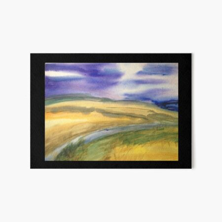 Golden Fields Art Board Print