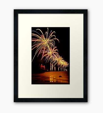 Re-opening of Busselton Jetty 2011 Framed Print