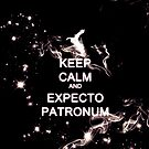 Keep Calm and Expecto Patronum - Glowing Stag by krishnef