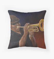 Louisiana Bluesman Throw Pillow