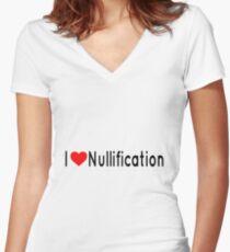 I Heart Nullification Women's Fitted V-Neck T-Shirt