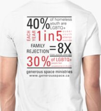 LGBTQ+ Youth Stats - T-shirt Slim Fit T-Shirt