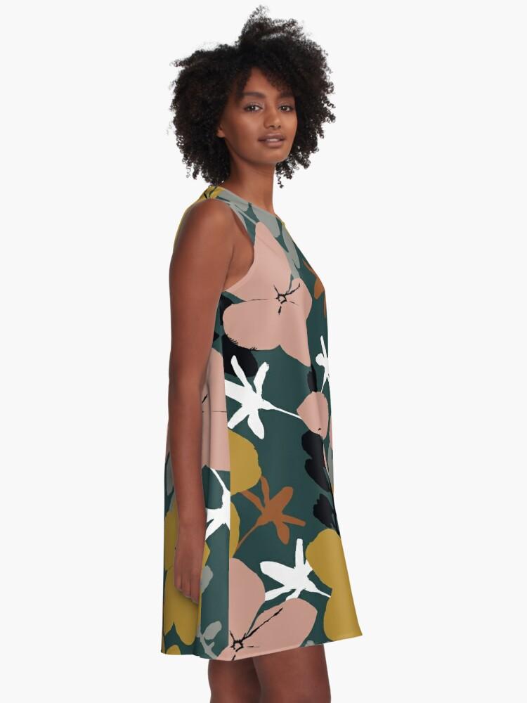 Alternative Ansicht von Oktober Garten A-Linien Kleid