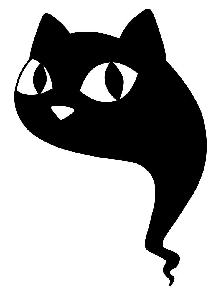 Cat Ghost Black by DeliriumLina
