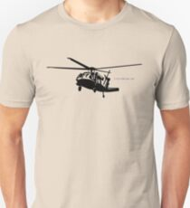Black Hawk Helicopter Unisex T-Shirt