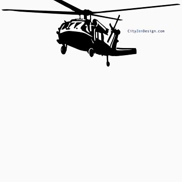 Black Hawk Helicopter by CityZenDesign