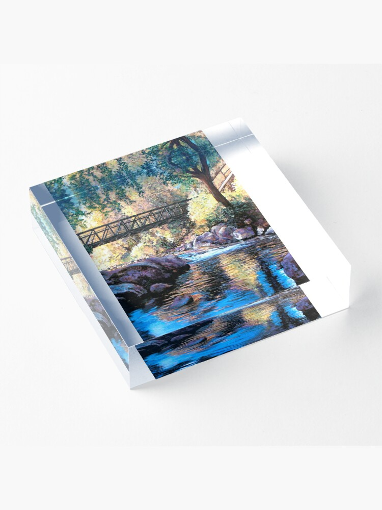 Alternate view of Boulder Creek Bridge - Late Afternoon Acrylic Block
