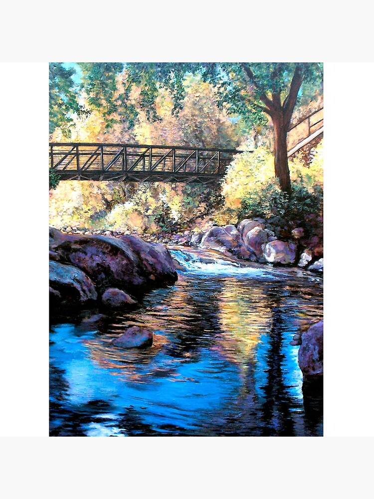 Boulder Creek Bridge - Late Afternoon by donnaroderick