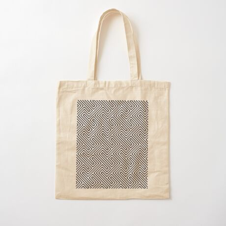 Monochrome Repeating Pattern 001 Cotton Tote Bag