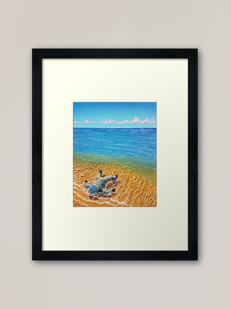 Alternate view of Washed Up Framed Art Print
