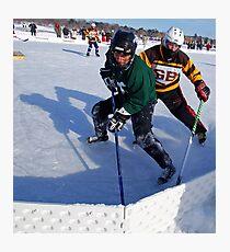 Pond Hockey - Hockey Players Photographic Print