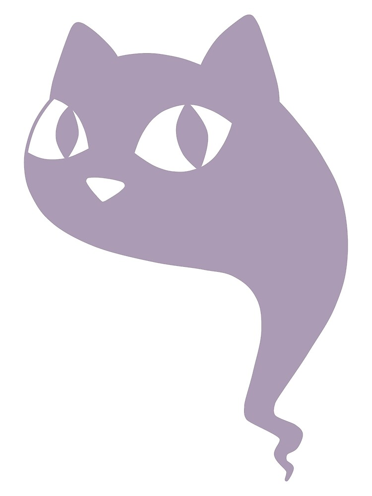 Cat Ghost Purple by DeliriumLina