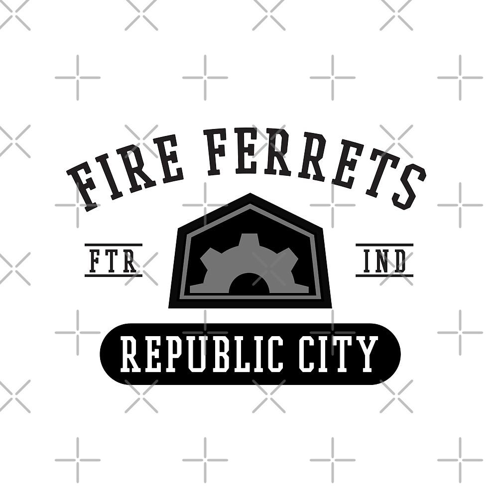 Republic City's Fire Ferrets (Black) by cnfsdkid