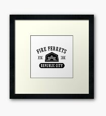 Republic City's Fire Ferrets (Black) Framed Print