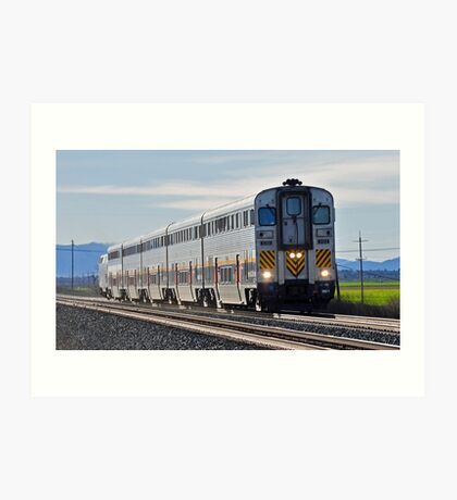 eastbound AMTRAK: same game Art Print