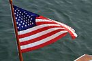 """Stars and stripes against the deep blue sea by Christine """"Xine"""" Segalas"""