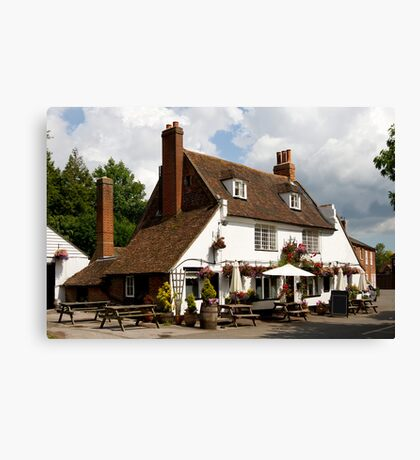 Traditional old British Pub Canvas Print