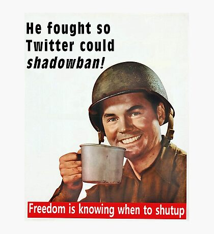 He Fought for Twitter Shadowbans Photographic Print