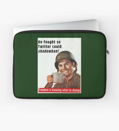 He Fought for Twitter Shadowbans Laptop Sleeve