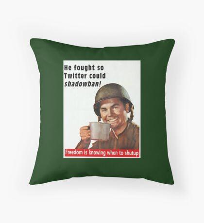 He Fought for Twitter Shadowbans Floor Pillow