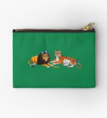 The Cowardly Lion and The Hungry Tiger by Kevenn T. Smith Studio Pouch