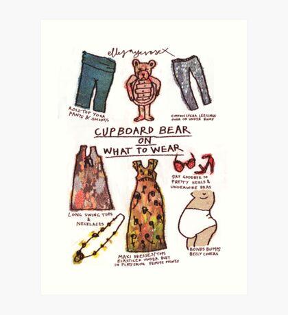 Pregnancy: Cupboard Bear on What to Wear Art Print