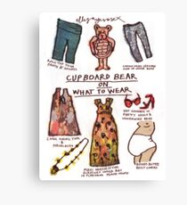 Pregnancy: Cupboard Bear on What to Wear Canvas Print
