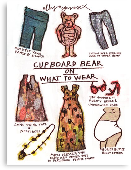Pregnancy: Cupboard Bear on What to Wear by ellejayerose