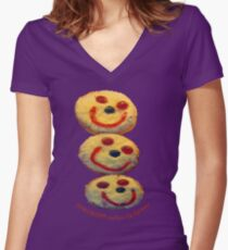 Friendship makes ME Happy Women's Fitted V-Neck T-Shirt