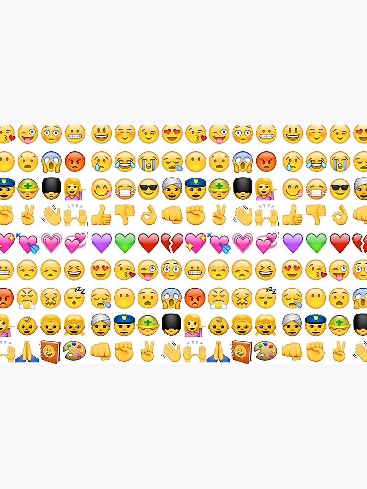 Emoji Print Laptop Skin By Brzt Redbubble