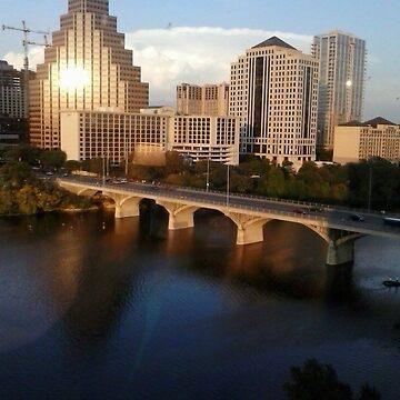 A View of the Congress Avenue Bridge by LisaQuenon