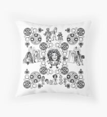 Haunted Who Throw Pillow