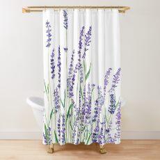 purple lavender  Shower Curtain