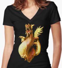Dragon Art Women's Fitted V-Neck T-Shirt