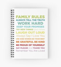 Family Rules Spiral Notebook