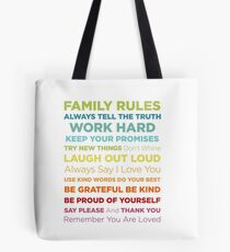 Family Rules Tote Bag