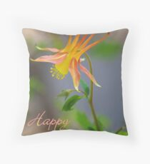 Columbine Notecard - Happy Easter Throw Pillow