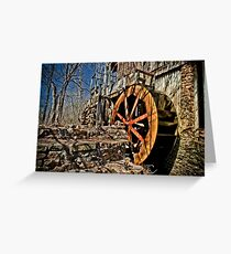 The John Wesley Hall Grist Mill Greeting Card