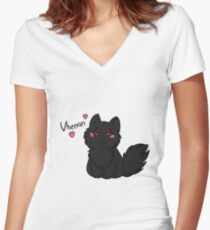 The Dread Wolf Loves You Women's Fitted V-Neck T-Shirt