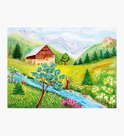 Alpine scenery Photographic Print