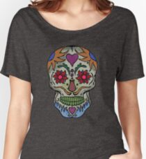 Adult Coloring - Skull Women's Relaxed Fit T-Shirt