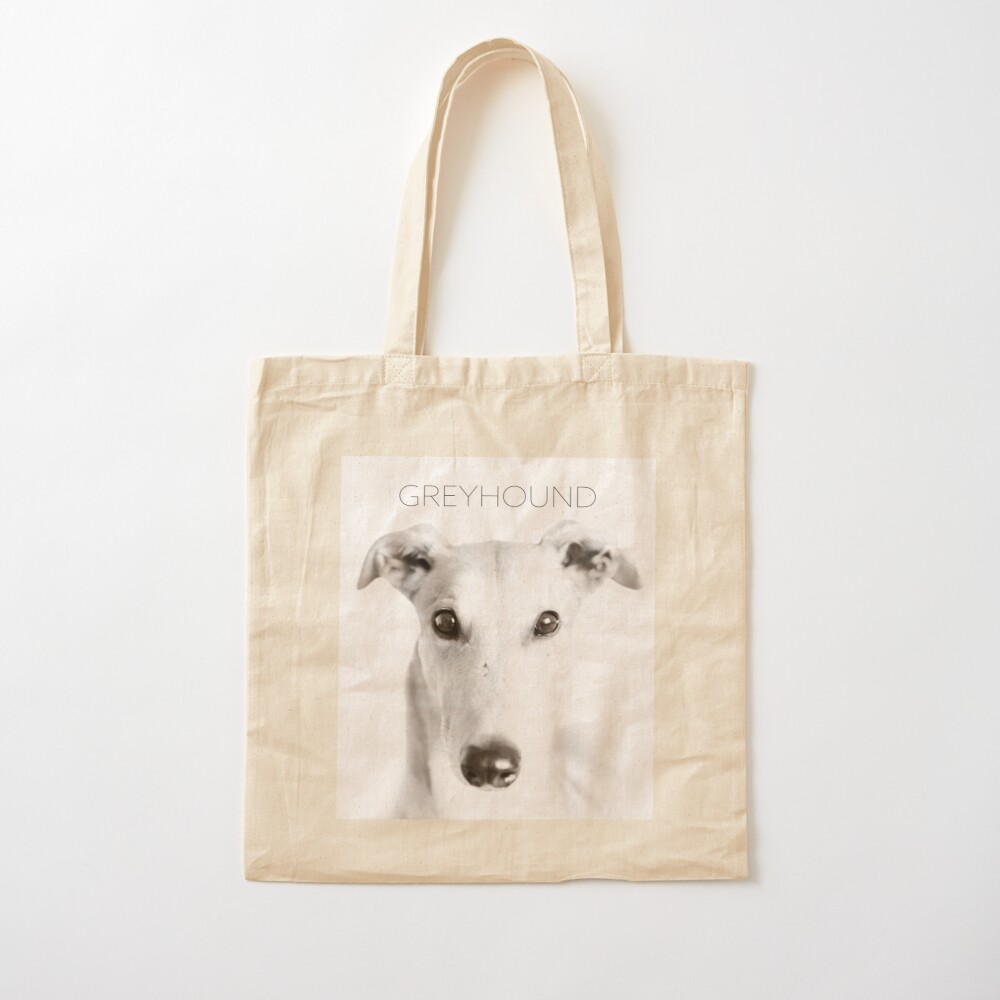 Greyhound In Black And White Tote Bag By Houndpixnz Redbubble
