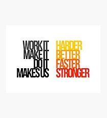 Daft Punk - Harder Better Faster Stronger Photographic Print